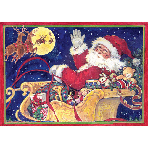 """Lang """"Flying Santa"""" Photo Box Christmas Cards"""