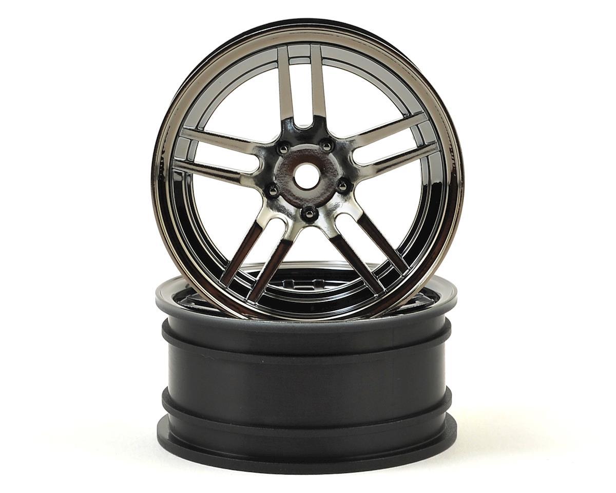 "Traxxas 12mm Hex 4-Tec 2.0 1.9"" Front Split Spoke Wheels (Black Chrome) (2) by"