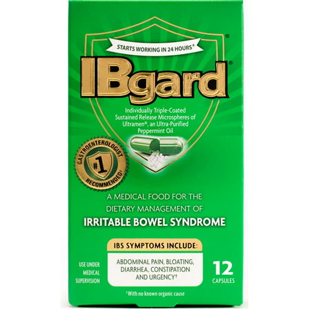 - 2 Pack - IBgard Irritable Bowel Syndrome Capsules 12 ea