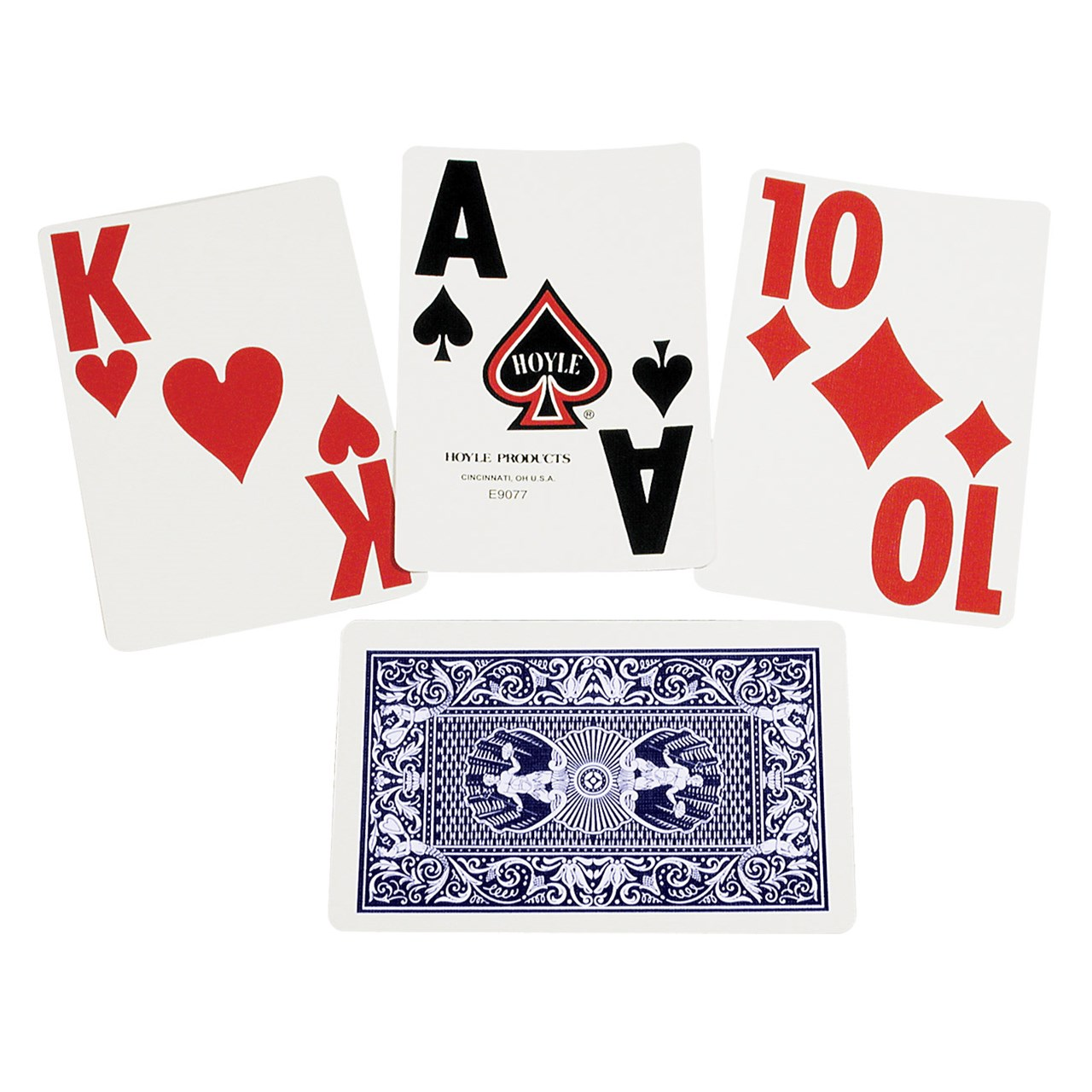Super Jumbo Playing Cards - Single Deck - Blue