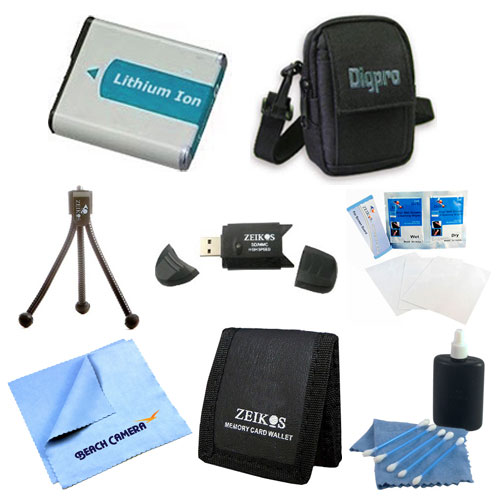 Special EN-EL19 Battery Kit Table-top Tripod Lens Cleaning Kit Deluxe Carrying Case Micro Fiber Cloth Memory Card Wallet USB 2.0 Card Reader Screen Protectors Nikon Coolpix S7000 S33 S3700 S6900 S32