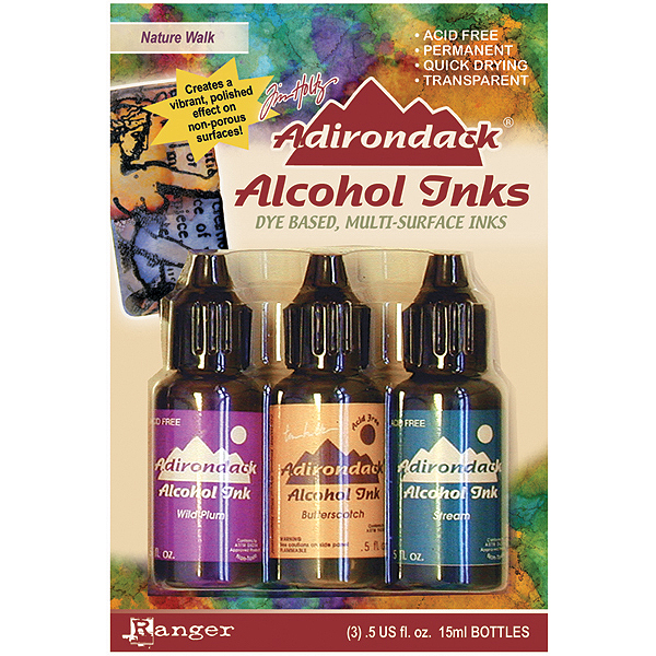 Adirondack Alcohol Ink .5 Ounce 3/Pkg-Nature Walk-Wild Plum/Buttrscotch/Stream