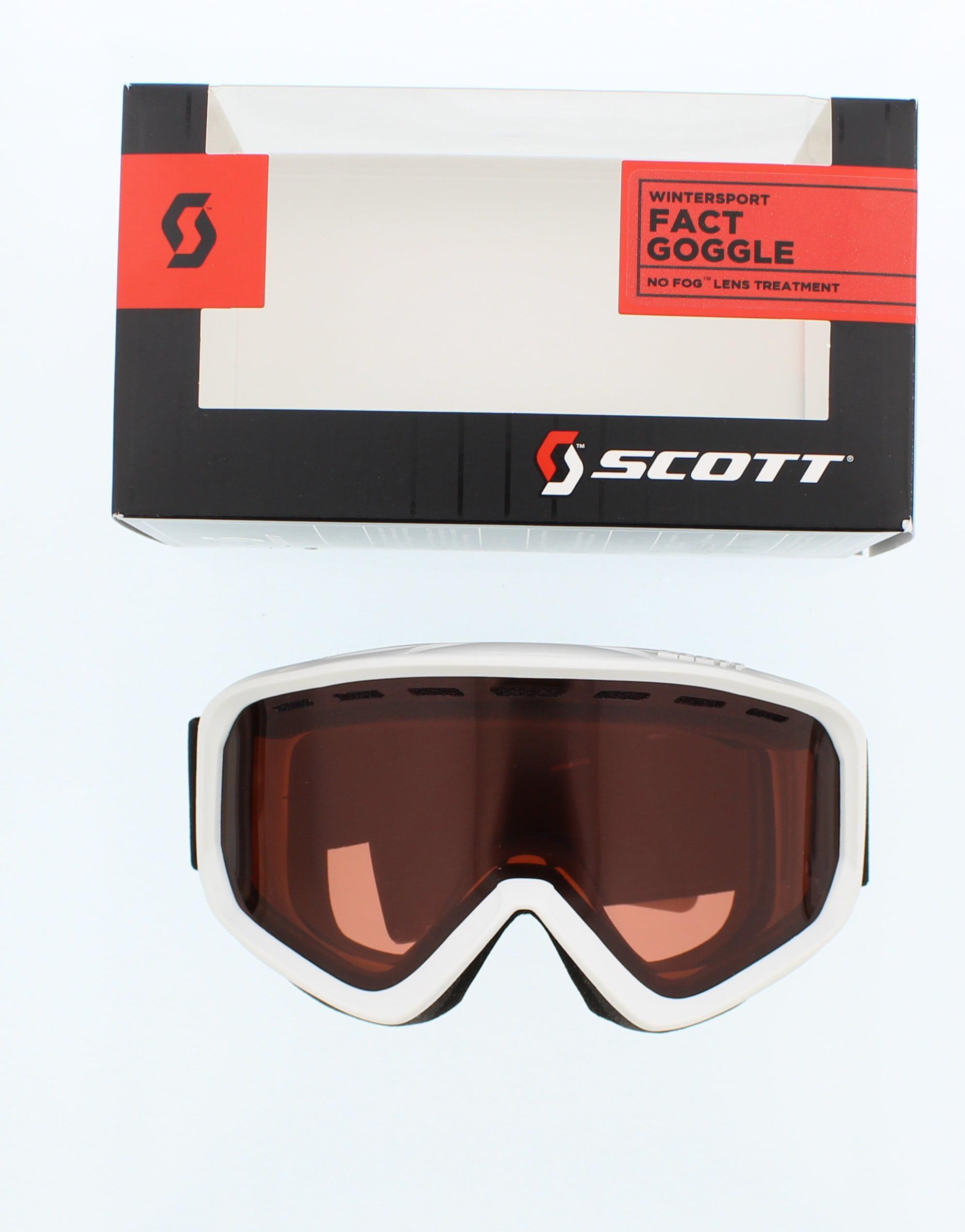 Scott White Winter Fact Sports Goggles by SCOTT