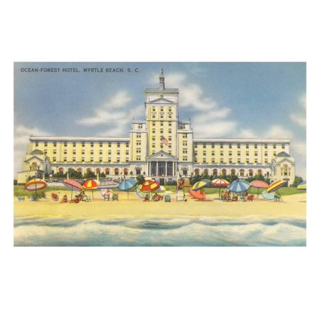 Ocean Forest Hotel Myrtle Beach South Carolina Print Wall Art
