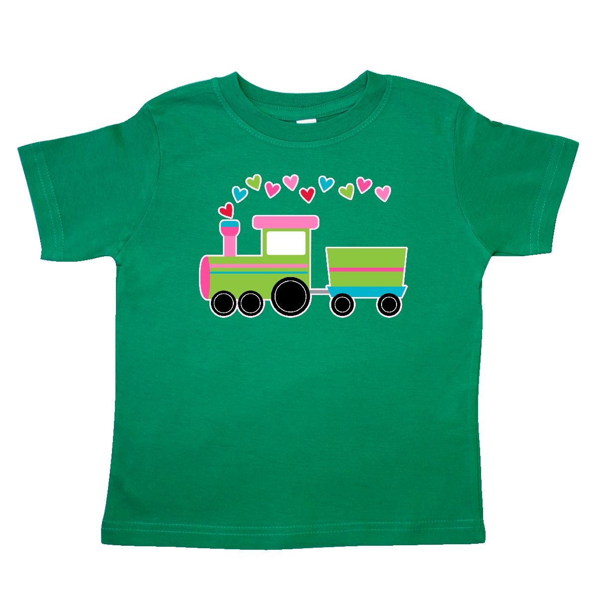 Inktastic Valentine Love Heart Holiday Train Toddler T-Shirt Valentines Day Choo
