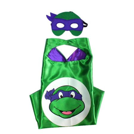 Cartoon Costume - TMNT Don Turtle Logo Cape and Mask with Gift Box by Superheroes (Cartoon Diy Costumes)