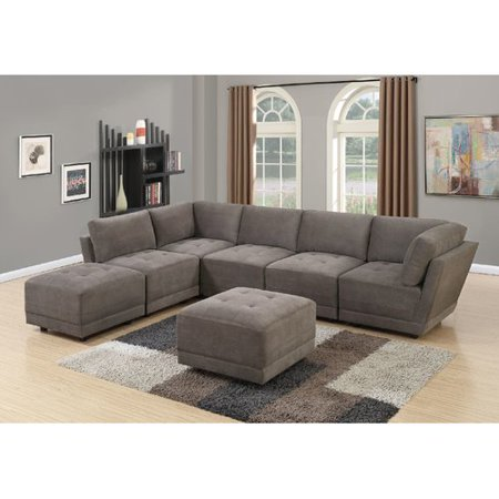 Pleasant Latitude Run Mckenny Modular Sectional With Ottoman Onthecornerstone Fun Painted Chair Ideas Images Onthecornerstoneorg