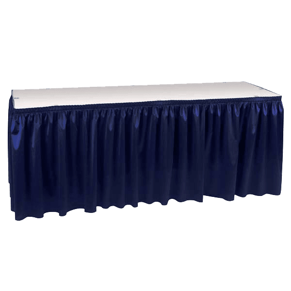 Table Skirting Poly Knit Expo Pleated Web Backing 14
