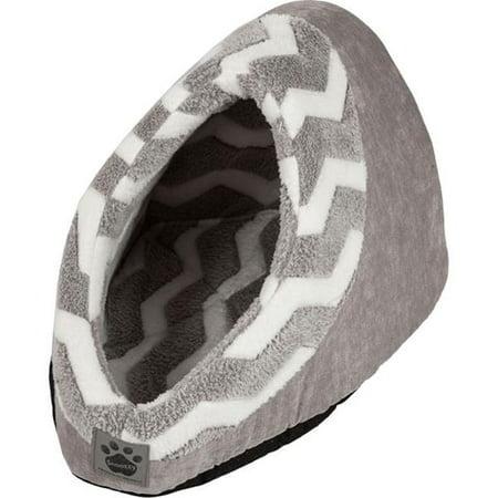 Image of Hip Zig Zag Hide & Seek Pets Bed - Grey, White & Grey Cord