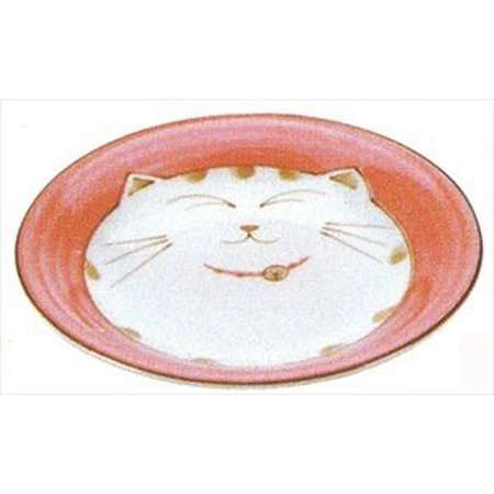 - Smiling Cat Porcelain Dish, 6.5