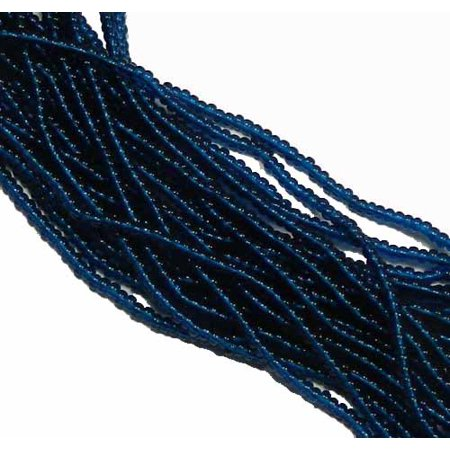 Montana Transparent Preciosa Czech Glass 6/0, Loose Seed Beads, on Loose Strung 6 String