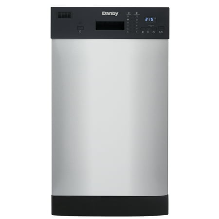 "Danby 18"" Built-In Dishwasher in Stainless Steel"
