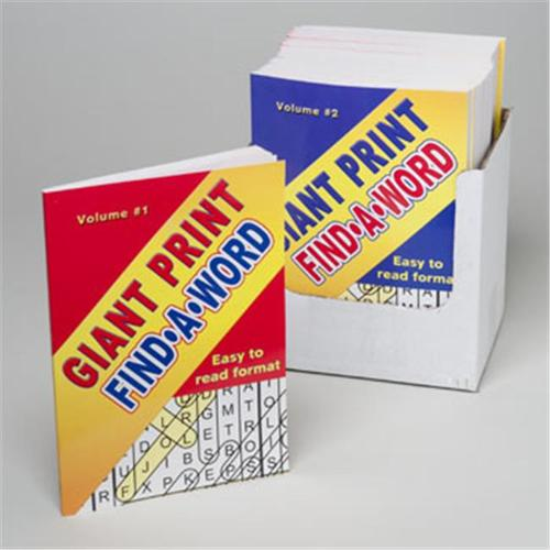 RGP 3013 Word Find Giant Print 96 Page In Pdq Easy To Read Format - Pack Of 24