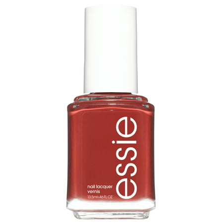 essie nail polish, rocky rose collection, red-toned brown, bed rock & roll, 0.46 fl. oz.