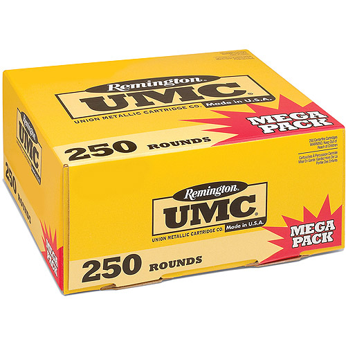 Remington UMC Pistol and Revolver Cartridge, 9mm Luger, 115 Gr. MC, 250-Pack