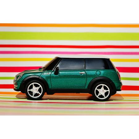 LAMINATED POSTER Mini Vehicle Green Auto Model Mini Cooper Poster Print 24 x 36