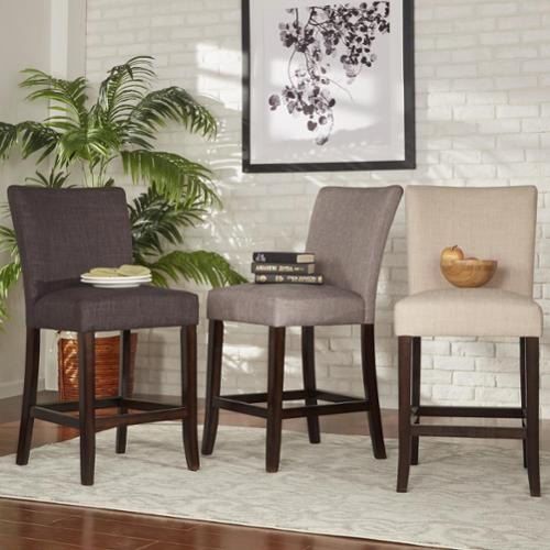 Tribecca Home  Parson Classic Linen Counter ight Chairs (Set of 2)