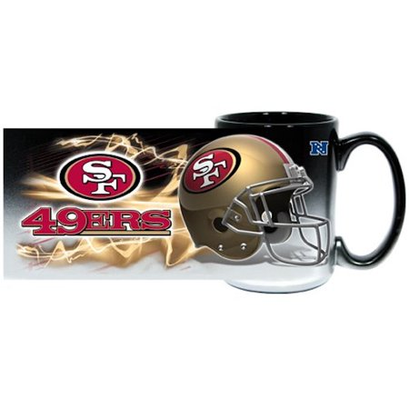 San Francisco 49ers Black Sublimated Mug 15oz