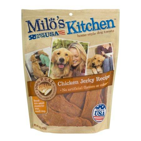 Milos Kitchen Home Style Dog Treats Chicken Jerky Recipe  15 0 Oz