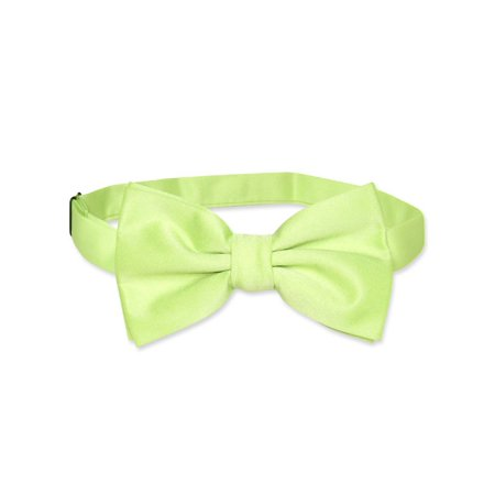 Vesuvio Napoli BOWTIE Solid LIME GREEN Color Men's Bow Tie for Tuxedo or Suit (Green Bow Ties)