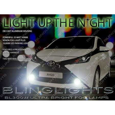 Fog Light Lamp Set - New 2015 2016 Toyota Aygo Xenon Fog Lamps Driving Lights Kit Set Pair