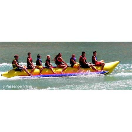 8 Passenger 21 Feet In-line Seats Island Hopper Commercial Banana Water Sled