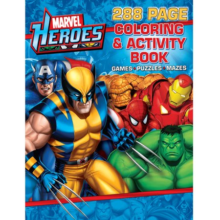 Marvel Heroes Coloring Book - Walmart.com