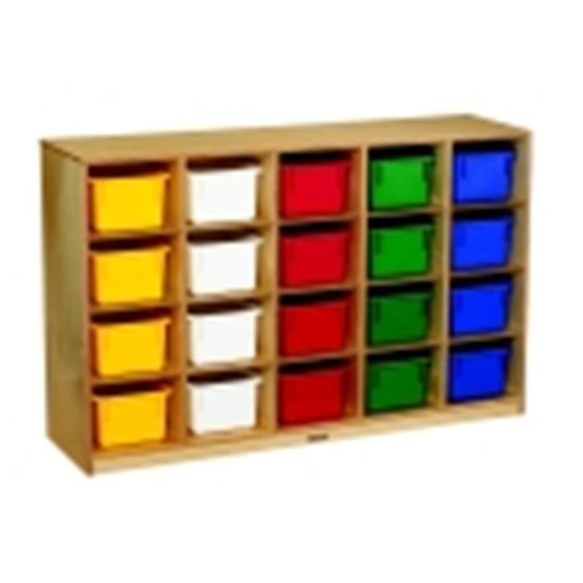 Childcraft Mobile Cubby, 20-Tray Capacity