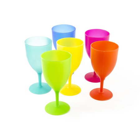 Imperial Home 4-Piece 14 oz. Plastic Goblet Set (Set of 4)](Plastic Goblets)
