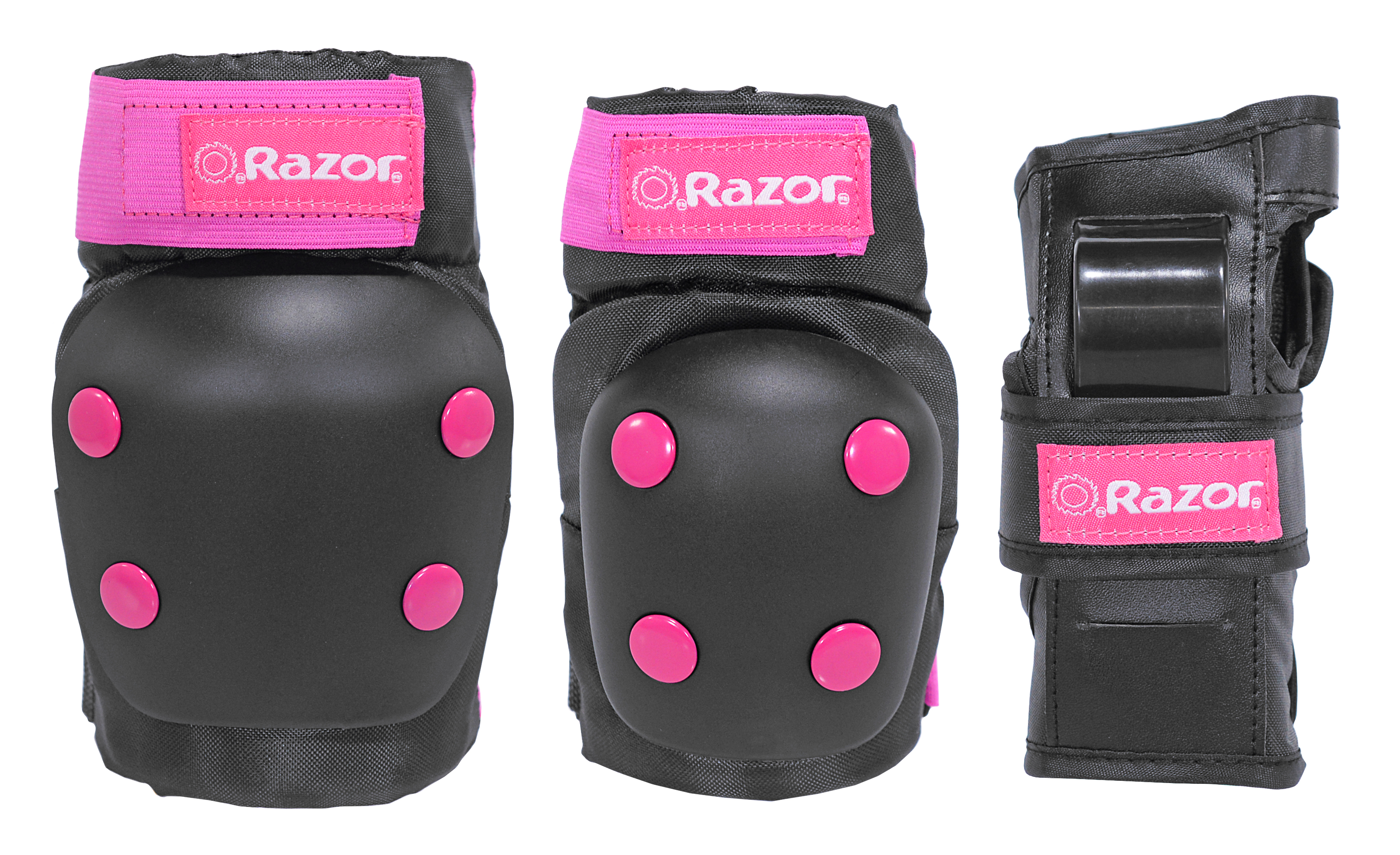 Razor Child's Bike Pad Set, Pink/Black
