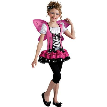 Pink Butterfly Girls Dress Halloween Costume - Walmart.com