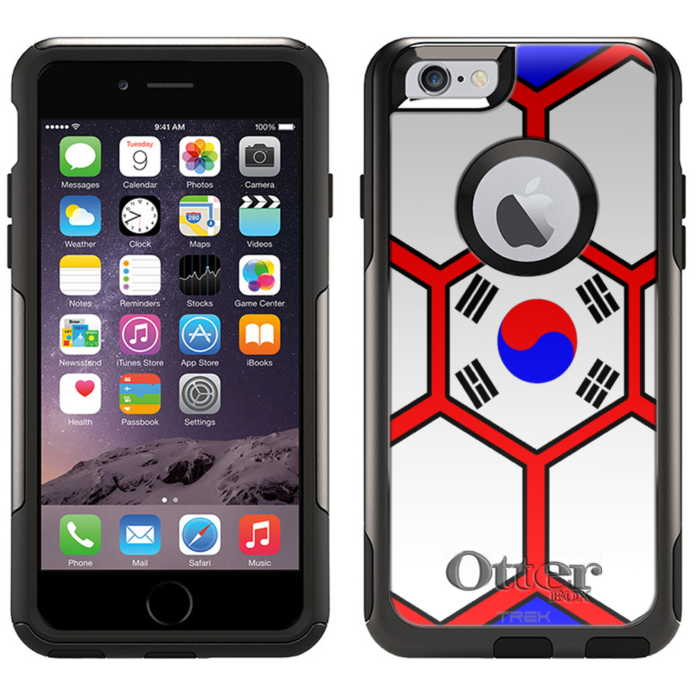 Otterbox Commuter Case for iPhone 6 Soccer Ball Korea Flag by Trek Media Group