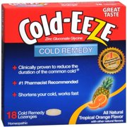 COLD-EEZE Lozenges Natural Tropical Fruit 18 per box (Pack of 3)