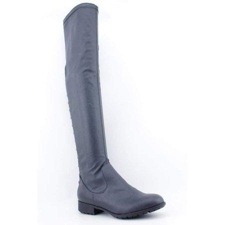Kathy Van Zeeland Gia Womens Size 7 Black Synthetic Fashion - Knee-High Boots (Vans Women Boots)