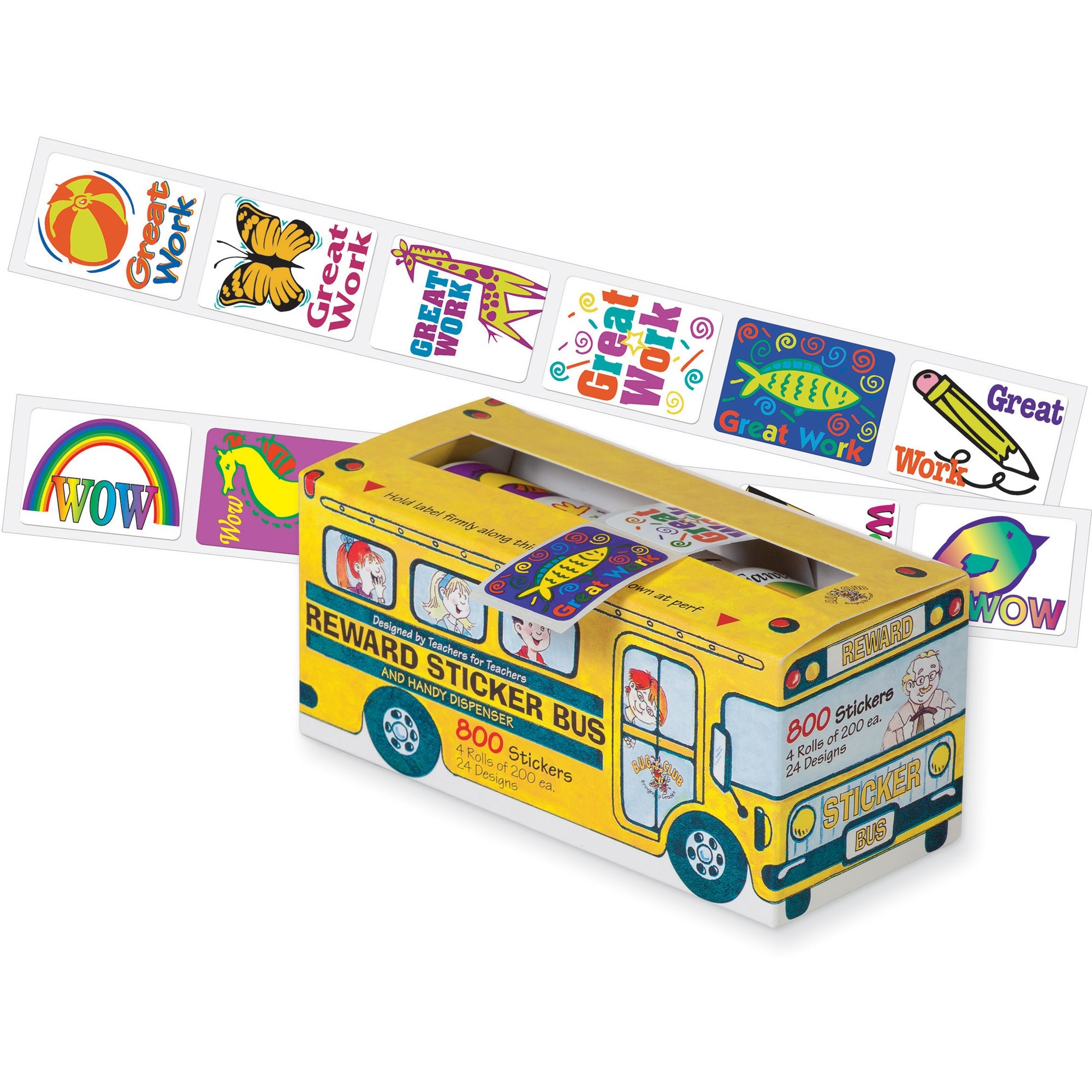 Pacon, PAC51450, Self-adhesive School Bus Rewards Stickers, 800 / Pack, Assorted