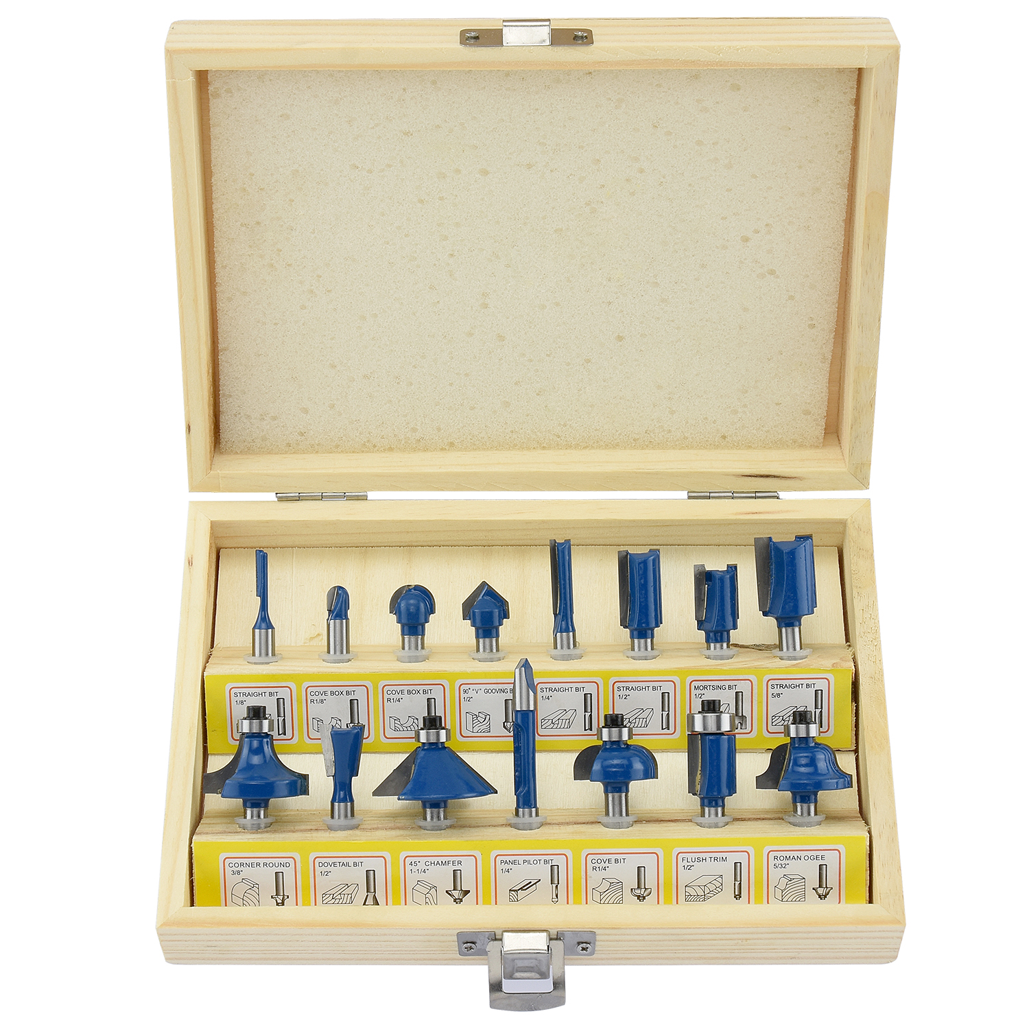 Hiltex 10100 15-Piece Tungsten Carbide Router Bit Set by Hiltex