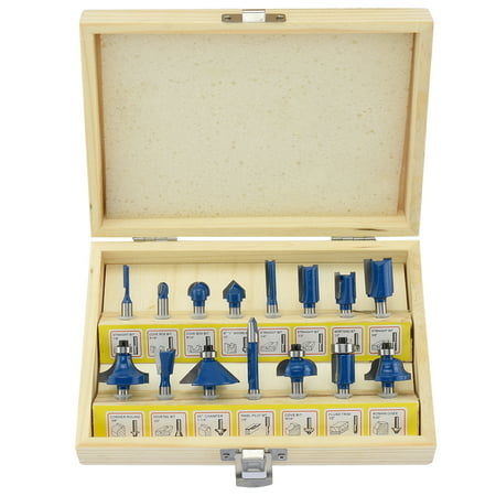 Hiltex 10100 15-Piece Tungsten Carbide Router Bit Set
