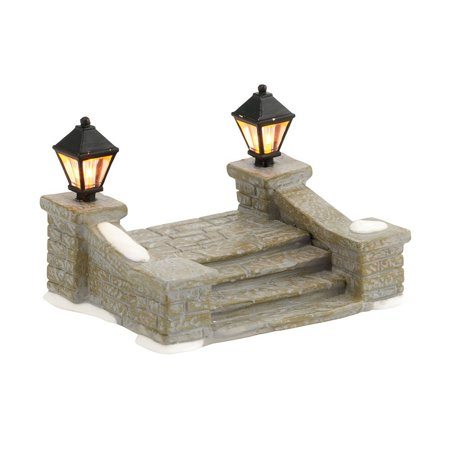Department 56 Decorative Accessories for Village Collections, Uptown Steps General, 2.17-Inch, Great for Christmas Home Décor and Christmas Gifting By - Uptown Collection