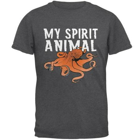 My Spirit Animal Octopus Dark Heather Adult T-Shirt ()