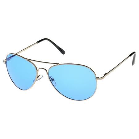 MLC EYEWEAR Classic Aviator Sunglasses Tri-Layer Unisex - (Boss Orange Aviator Sunglasses)