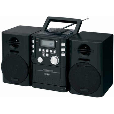 Jensen Cd-725 Portable CD Music System with Cassette and FM Stereo Radio by