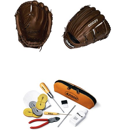 Wilson A2000 SC-B2 11 3/4 Pitchers Baseball Glove with Glove Care Kit