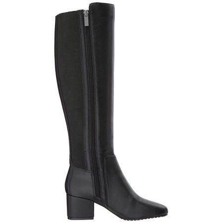 cced1795975 Bandolino Womens florie Leather Square Toe Knee High Fashion, Black, Size  5.0