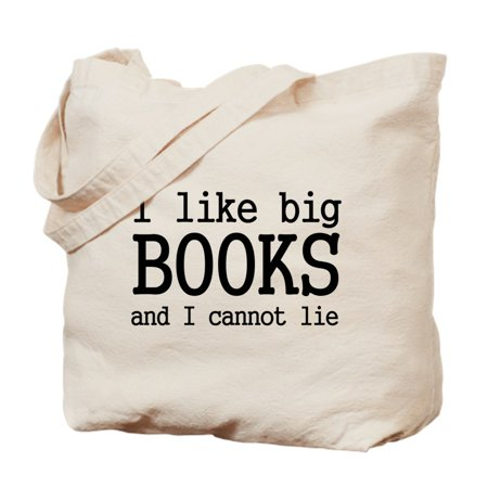 CafePress - I Like Big Books And I Cannot - Natural Canvas Tote Bag, Cloth Shopping Bag Big Accessories Canvas Tote