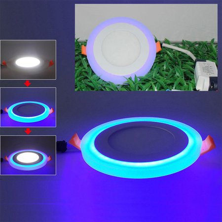 Dual Color Acrylic LED Recessed Ceiling Panel Down Lights Ultra Slim Lamp for Indoor Office Restaurant - image 7 de 8