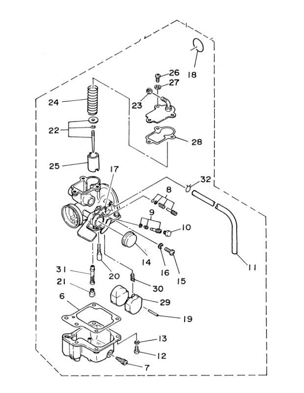 Yamaha Raptor 80 Carburetor Diagram