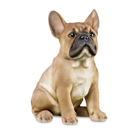 Collections Etc. French Bulldog Statue Outdoor Garden Decor or Indoor, Hand Painted, Tan