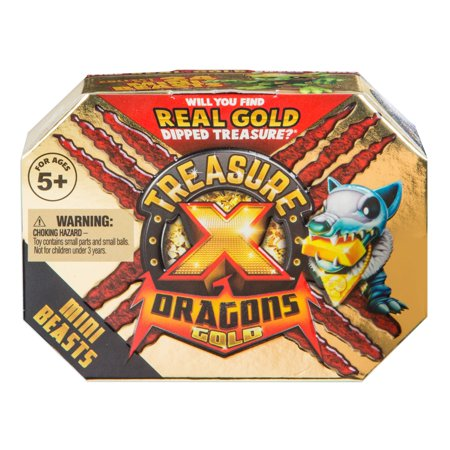 Treasure X Dragons Gold Mini Beast Pack, Single Pack