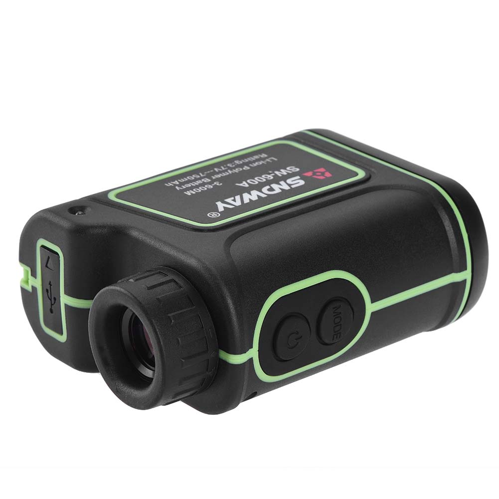 TOOLTOO Golf Rangefinder Rechargeable Laser Rangefinder Laser Binoculars with Storage Bag and Lanyard, 3.3-656 Yards, 8X Magnification, IP54 Waterproof, Perfect for Golfing, Hunting and Racing, Black