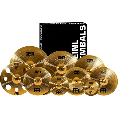 Meinl HCS-SCS1 Ultimate Complete Cymbal Set Pack with FREE 16-Inch Trash Crash Economy Set Cymbal